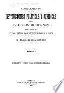 Complemento de las instituciones políticas y jurídicas de los pueblos modernos