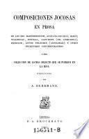 Composiciones jocosas en prosa ... coleccion publicada por A ..... Hermann