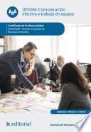 Comunicación efectiva y trabajo en equipo. ADGD0208