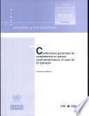 Condiciones generales de competencia en países centroamericanos