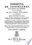 Conducta de confesores en el tribunal de la Penitencia, según las instrucciones de S.Carlos Borromeo y la doctrina de S.Francisco de Sales