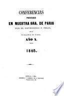 Conferencias predicadas en Nuestra Sra. de Paris por el P. Felix