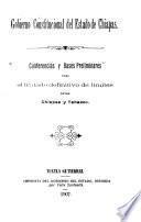 Conferencias y bases preliminares para el tratado definitivo de límites entre Chiapas y Tabasco