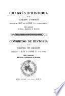 Congrés d'historia de la corona d'Aragó