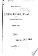Congreso forestal y frutal de la provincia de Buenos Aires