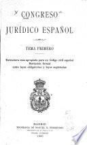 Congreso jurídico español ...