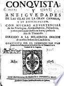 Conquista y antiguedades de las islas de Gran Canaria y su descripcion