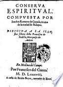 Conserua espiritual compuesta por Ioachin Romero de Cepeda, ..