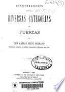 Consideraciones sobre las diversas categorias de fuerzas