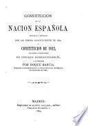 Constitucion de la Nacion Espanola