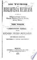 Constitucion federal de los Estados unidos mexicanos