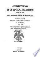 Constitucion, leyes, decretos y resoluciones del Congreso de 1853, y decretos reglamentarios del poder ejecutivo