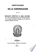 Constituciones de la Congregación de la Inmaculada Concepción de María Santísima