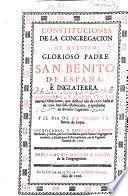 Constituciones de la Congregacion de nuestro glorioso Padre San Benito de España e Inglaterra