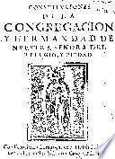 Constituciones de la Congregacion y Hermandad de Nuestra Señora del Refugio y Piedad