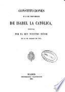 Constituciones de la Real Orden Americana de Isabel La Catolica