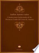 Constituciones fundacionales de las Provincias Unidas del Centro de América