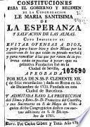 Constituciones para el gobierno y regimen de la Congregacion de Maria Santisima de la Esperanza y Salvacion de las Almas