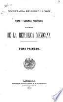 Constituciones políticas de los estados de la República mexicana