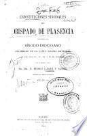 Constituciones sinodales del Obispado de Plasencia