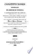 Constituciones Sinodales del Obispado de Venezuela, y Santiago de Leon de Carácas. Hechas ... en ... 1687. Por ... Diego de Baños y Sotomayor, obispo del dicho obispado ... Reimpresas, etc