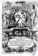 Constituciones synodales del Arcobispado de Burgos, copiladas, hechas, y ordenadas agora nueuamente, conforme al sancto Concilio de Trento, por el_senor don Francisco Pacheco de Toledo, Cardenal de la sancta yglesia de Roma, del titulo de sancta Cruz en Hierusale, primer Arcobispo, ... del dicho Arcobispado, en la Synodo quepor su manda do se hizo, y celebro en la Ciudad de Burgos, 1575