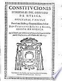Constituciones synodales del obispado de Huesca