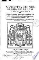 Constituciones Synodales del Obispado de Pamplona