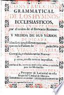 Construccion grammatical de los hymnos ecclesiasticos