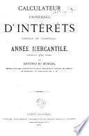 Contador universal de intereses simples y compuestos, Año Mercantil, Divisor 360 dras por Morer Antonio M
