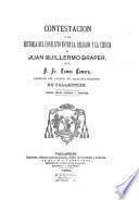 Contestacion á la Historia del conflicto entre la religion y la ciencia de Juan Guillermo Draper