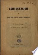 Contestacion al articulo inserto en El Faro Nacional en el número 344