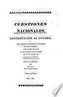 Contestación al Lucero, ò, Los falsos y peligrosos principios en descubrierto