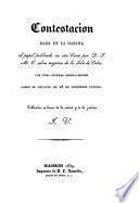 Contestación dada en la Habana al papel publicado en esta corte por D. J. M. T. sobre negocios de la isla de Cuba