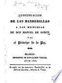 Continuación de las banderillas a las memorias de don Manuel de Godoy, ó sea el príncipe de la paz