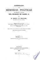 Continuacion de las Memorias politicas para escribir la historia del reinado de Isabel II