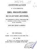 Continuacion y suplemento del Prontuario de D. Severo Aguirre