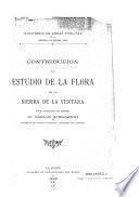 Contribucion al estudio de la flora de la Sierra de la Ventana