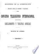 Convenio telegráfico internacional