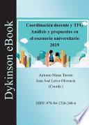 Coordinación docente y TFG. Análisis y propuestas en el escenario universitario 2019.