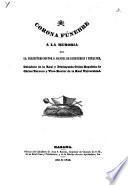 Corona Fúnebre a la Memoria del Sr. Presbitero Doctor D. Manuel de Echeverria y Peñalver