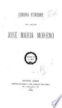 Corona fúnebre del Doctor José Maria Moreno
