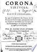 Corona virtvosa, y Virtvd coronada