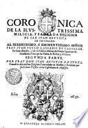 Coronica De La Ilvstrissima Milicia, Y Sagrada Religion De San Ivan Bavtista De Iervsalem