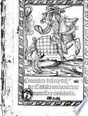 Coronica del rey don Juan de Castilla nueuamente impressa y emendada