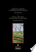 Cosmos de la memoria (la poesía de Antonio Colinas)