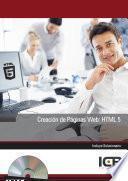CREACIÓN DE PÁGINAS WEB: HTML 5