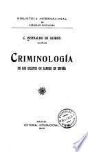 Criminología de los delitos de sangre en España