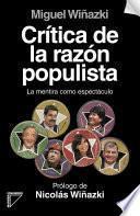 Critica de la razón populista