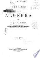 Crítica y síntesis del álgebra